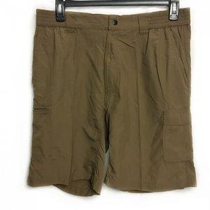 Rugged Exposure Men's Nylon Cargo Shorts Large